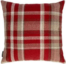 McAlister Heritage   Extra Large Wool-Textured Plaid Pillow