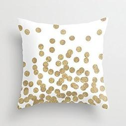 HLPPC Simple Design Pillowcase Gold Glitter Dots In Scattere