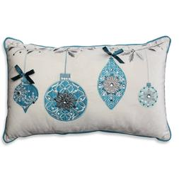 Pillow Perfect Holiday Ornaments Rectangular Throw Pillow, 1