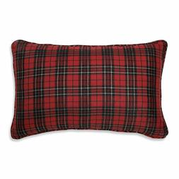 Pillow Perfect Holiday Plaid Red Rectangular Throw Pillow 20