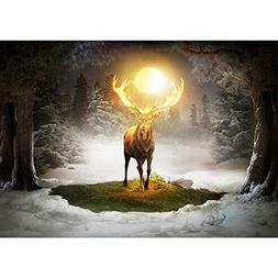 Yeefant Holy Elk Diamond Painting Kits for Adults,5D DIY Rhi