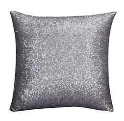 Home Decor Pillow, Gillberry Solid Color Glitter Sequins Thr