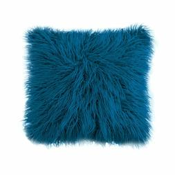 Home Decorative Plush Mongolian Fur Throw Pillow Cover Cushi