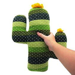 EDLDECCO Home Decorative Soft Plush Cactus Throw Pillow Hand