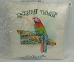 "Tommy Bahama Home Parrot Paradise Throw Toss Pillow 18"" Squa"