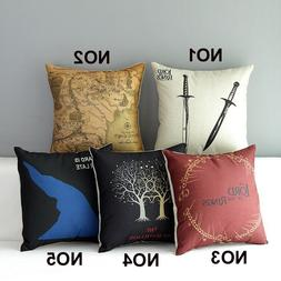 Hot sale Lord of the Rings Cotton Linen Square home sofa Dec