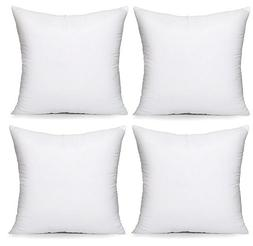 Acanva Hypoallergenic Pillow Insert Form Cushion, Square, 16