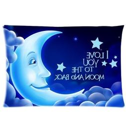 I love You to the Moon and Back Personalized Roomy Zippered