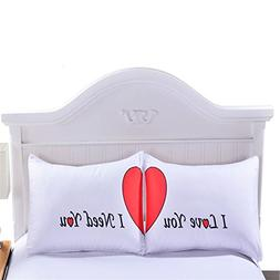 Sleepwish I Love You I Need You Couple Pillowcases Set of 2