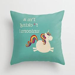 I'm a fucking unicorn Pillow Covers Decorative with Zip Thro
