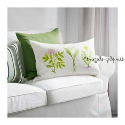 """IKEA Pillow Cover Dorthy Botanical Cushion Cover 16x26"""" Whit"""
