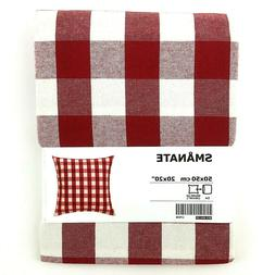 IKEA Smanate Cushion Throw Pillow Cover RED 20 x 20 White Ch