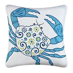 Imperial Coast Square Meridian Crab Pillow by C & F