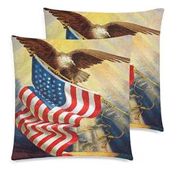 InterestPrint Independence Day 4th of July Throw Pillowcase