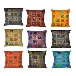 Indian Traditional Handmade Cushion Cover, Decorative Throw