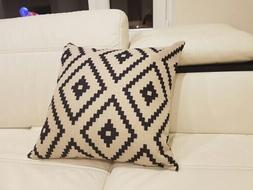 Indio Geometric Black Diamond Tribal Boho Accent Decorative