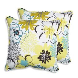 Pillow Perfect Outdoor/ Indoor Floral Fantasy Limeaide 18.5-