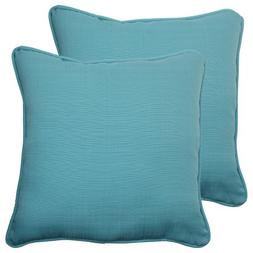 Pillow Perfect Outdoor Forsyth Corded Throw Pillow, 18.5-Inc
