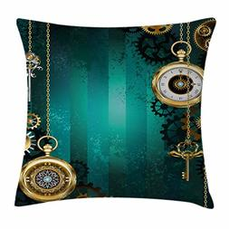 Industrial Decor Throw Pillow Cushion Cover by Ambesonne, Je