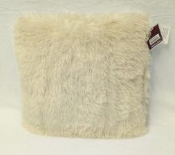 Ivory Soft Shaggy Cushion Throw Pillow - 10 Colors