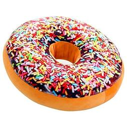J-DEAL® Round Doughnut Donut Seat Back Stuffed Cushion In