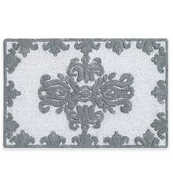 J. Queen New York Colette 30-Inch x 20-Inch Bath Rug in Silv