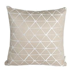 Mika Home Jacquard Triangle Reversible Throw Pillow Cover Cu