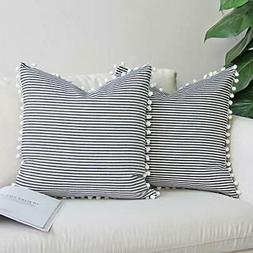 """Silver Sequins Embroidered Chic Blue 16/""""x16/"""" Throw Pillow Xhilaration Fringe"""