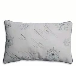 Pillow Perfect 'Joy To The World' Embroidered Rectangular Th