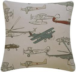 Jtartstore Flight School Collection Airplanes and H 18 x 18-