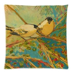 Jtartstore Two birds 18 x 18-inch retro vintage linen cotton