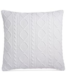 """Ralph Lauren Judson 20"""" Square Cabled Throw Pillow Bedding"""