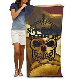 Keep Calm Skull Crown Soft Feel/One Size/for Pool Chairs San