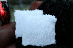 Kelly Soft Fur Cushion Square Decorative Solid Shaggy Furry