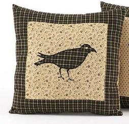 "Kettle Grove 16"" Crow Decorative Pillow Cover"