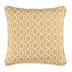 "Keyhole Print Square Throw Pillow in Yellow 20"" X 20"""