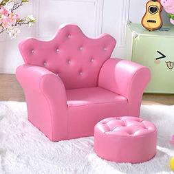 Superb Costzon Kids Sofa Pu Leather Princess Sofa Inzonedesignstudio Interior Chair Design Inzonedesignstudiocom