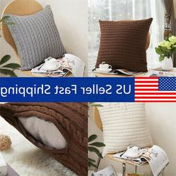 Knit Fiber Pillow Home Decorative Throw Pillow Case Sofa Wai