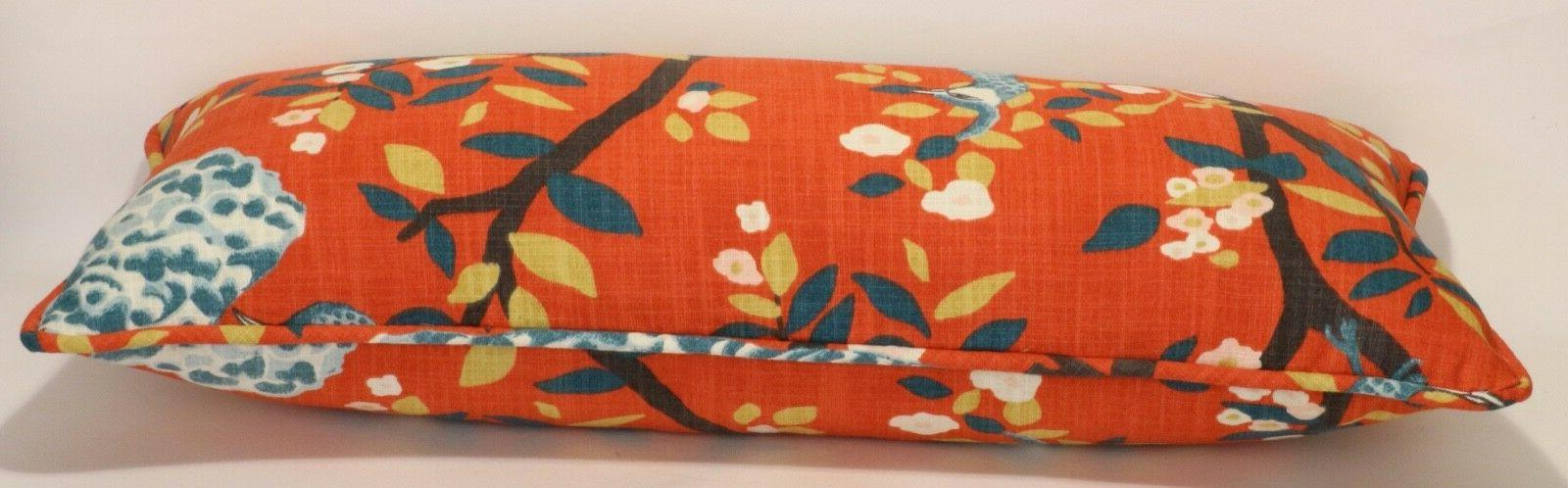 "1 26"" Persimmon Plume Floral Decorative Throw &"