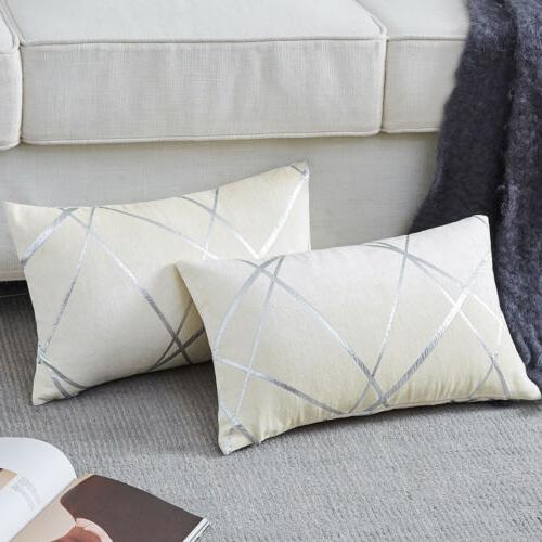 Luxury Geometric Chenille Pillow Covers Decorative Cases
