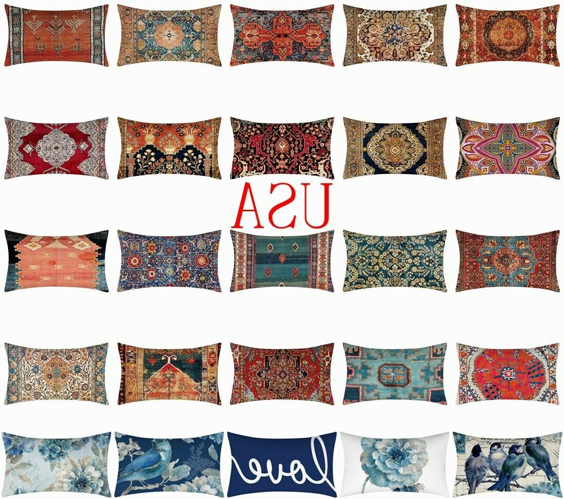 12x20 cushion cover white double sided lumbar