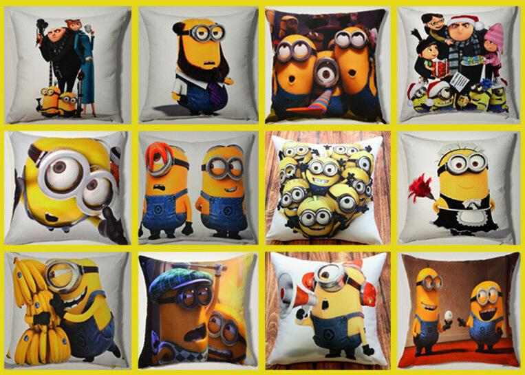 """15"""" Despicable Me Minions Printed Throw Pillow"""