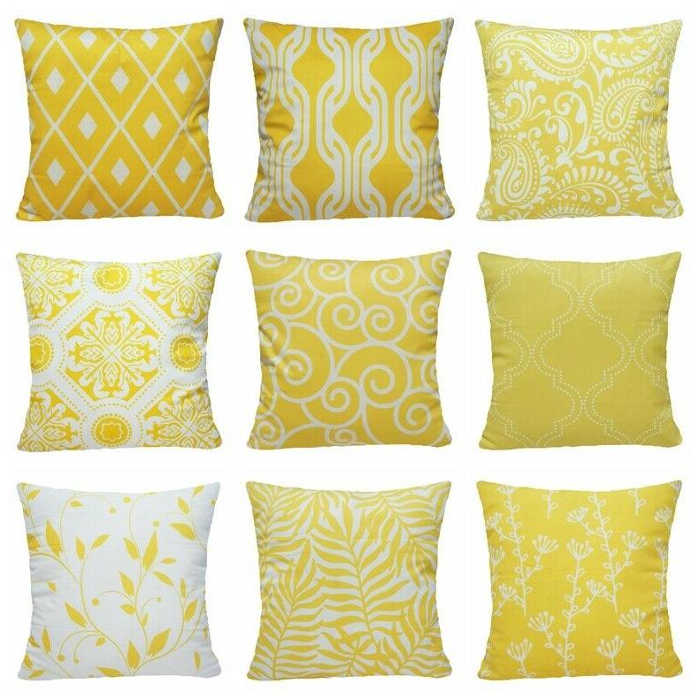 16x16 yellow accent throw pillow cover sofa