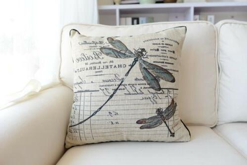 "18"" French Floral Bird Animal Throw Pillow"