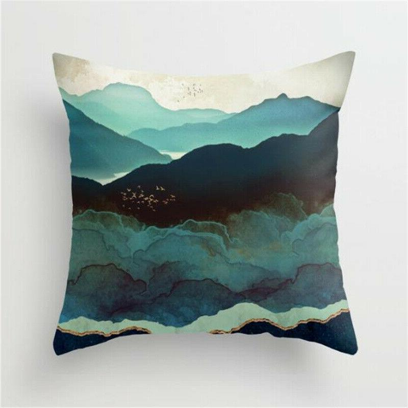 Pillow Case Cover Square Home Bedroom Car