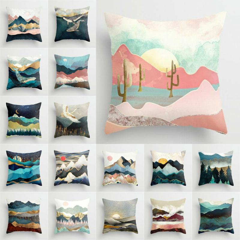 pillow case cushion cover square home bedroom