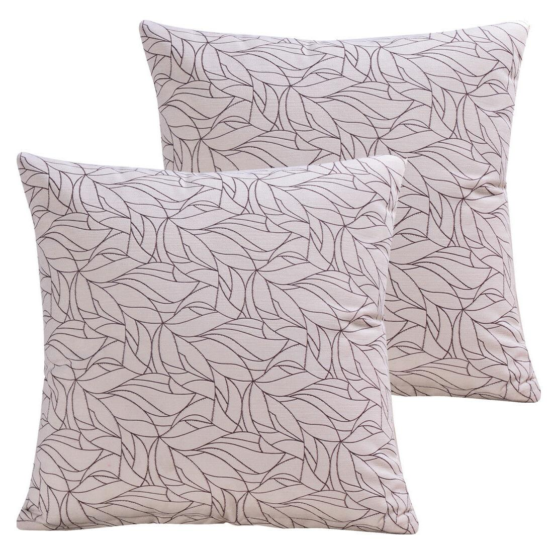 """18""""X18"""" 2 Pack Throw Pillow Cases Soft Solid Cushion Cover f"""