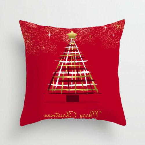 "18x18"" Christmas Polyester Throw Cushion Cover Decor"