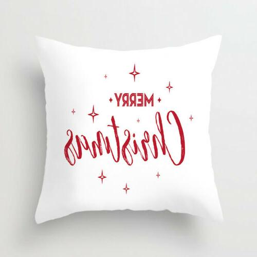 "18x18"" Christmas Pillow Polyester Sofa Throw Cushion Cover"