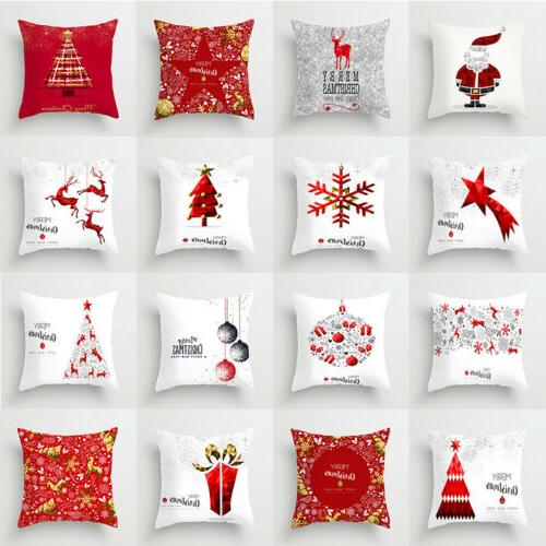 18x18 christmas pillow case polyester home sofa